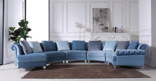Stylish design furniture Living Room Image Youtube Divani Casa Darla Modern Blue Velvet Circular Sectional Sofa