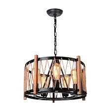 giluta wood metal chandelier farmhouse
