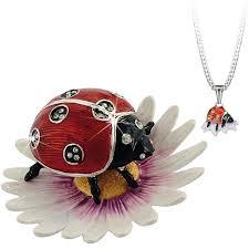 Hidden Treasures By Arora Design Uk Secrets Hidden Treasures Ladybird Pewter Trinket Box And Pendant 1057 Rrp33