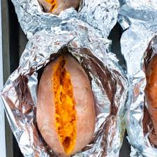 how to bake sweet potatoes in foil