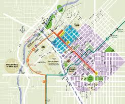 downtown denver map  denver co • mappery
