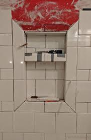tiling shower niches trim niche subway tile shower niche ideas