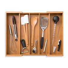 image of Expandable Bamboo Utensil Tray