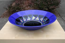 custom made fused glass decorative bowl
