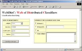 Data Entry Examples Example Of The Classification Data Entry Web Page Of Webdisc