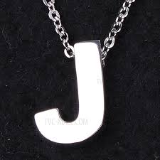 letter pendant necklace trendy titanium steel chain necklace for men and women silver letter