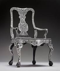 ebony and ivory armchair vizagapatam india c the peabody es museum
