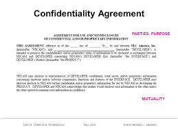 Data Confidentiality Agreement Inspiration Confidentiality Agreements Ppt Download