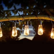 Industrial String Lights Solar Eureka Vintage Bulb String Lights Retro Minimalist Industrial Garden