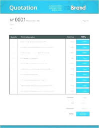 Free Sample Quotation Template The Best Contact Management