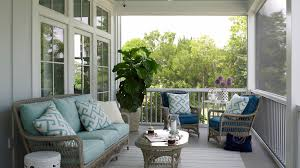 furniture for porch. Light Blue Porch With Wicker Furniture For D