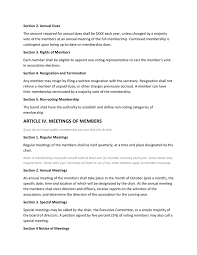Membership Dues Template Nonprofits Bylaws Template In Word And Pdf Formats Page 3