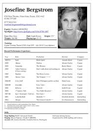 Free Actor Resume Template Simple Free Acting Resume Template Nhtheatreorg