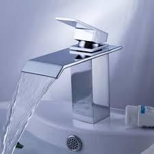 yodel single handle waterfall bathroom vanity sink faucet (chrome