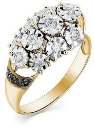 Мастер Бриллиант <b>Кольцо с 19 бриллиантами</b> из жёлтого ...