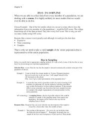 Design Bias Example Bias In Sampling Census