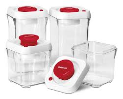 Kitchen Storage Canisters Cuisinart Fresh Edge Vacuum Seal 8 Container Food Storage Set