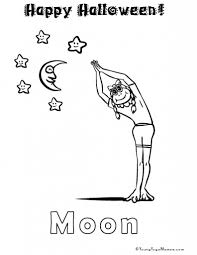 The yoga coloring pages for kids can be used for the kids above five years old. Free Yoga Colouring Page Pdf To Hand Out For Halloween Yoga For Kids Kids Yoga Poses Yoga Coloring Book