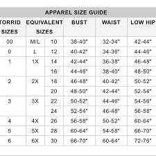 Torrid Size Chart In 2019 Bell Sleeves Clothing Size