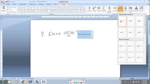 write a equation ms word 2007 or 2010
