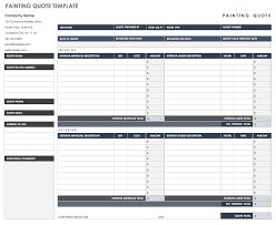 Job Quote Template Excel Free Job Quote Templates Smartsheet