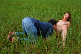 Teen Dorf Aneta Ales In The Soft Grass Of This Field This Teen.