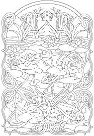 innovative art nouveau coloring pages colouring to fancy page