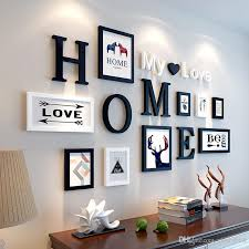 2019 european stype home design wedding love photo frame wall decoration wooden picture frame set wall photo frame set white black home decor from cindy668