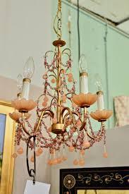 pink opaline chandelier