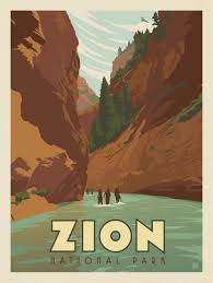 National Parks Posters Anderson Design Group Anderson Design Group 61 American National Parks Zion