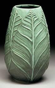 How To Design Pottery Richard Vincent Pottery Slip Design Brush On Leaf Pattern