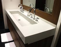 trough bathroom sink with two faucets trough sinks with two faucet wonderful bathroom sink 2 faucets