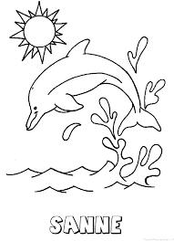 Sanne Dolfijn Naam Kleurplaat