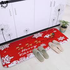 PEIYUAN Merry Christmas Door Mat Floor Mat Printed Christmas tree ...