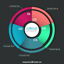 Colorful Pie Chart Vector Free Download