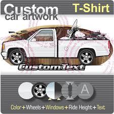 Custom T-shirt 88-98 Chevy 1500 2500 GMT400 Long bed Pickup Truck + ...