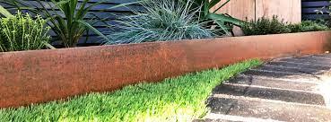 corten steel garden edging steps