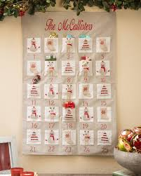 advent calander embroidered fabric advent calendar balsam hill