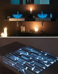 Transparent Glowing Bathroom Counters