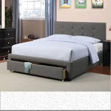 Upholstered Grey tufted bed frame