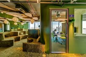 green office ideas awesome. Green Office Ideas With Awesome Decor On Seating Furniture And Wall E