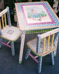 Image Painting Kid Image Etsy Hand Painted Peter Rabbit Table Chair Set Kids Furniture Etsy