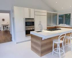 modern kitchen island. Kitchen - Contemporary L-shaped Marble Floor And White Idea In New York Modern Island N