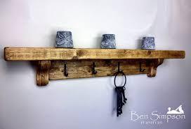 chunky rustic wooden coat rack shelf shelves coat stand