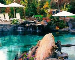 natural looking in ground pools. Natural Swimming Pond Waterfall - Bing Images Looking In Ground Pools G
