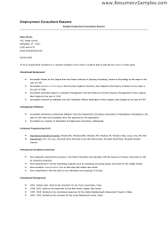 ... Employment Resume 6 Employment Resume Sample Format For ...