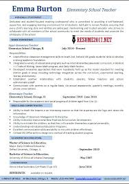 Resume Examples 2017 New Elementary Teacher Resume Examples Earpodco