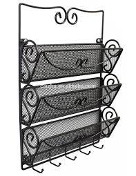 office key holder. 3 Tier Letter Rack Organizer Key Holder Mail Wall Mount Office Hang Storage T