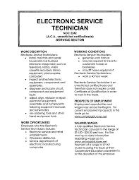Electronics Technician Resume Samples Huanyii Com