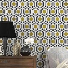 Wall Stencil Patterns Awesome Hexagon Wallpaper Stencil Wall Stencils And Geometric Stencil Patterns
